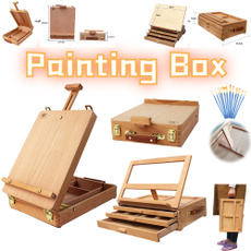 Box, Art Supplies, easel, sketchboard