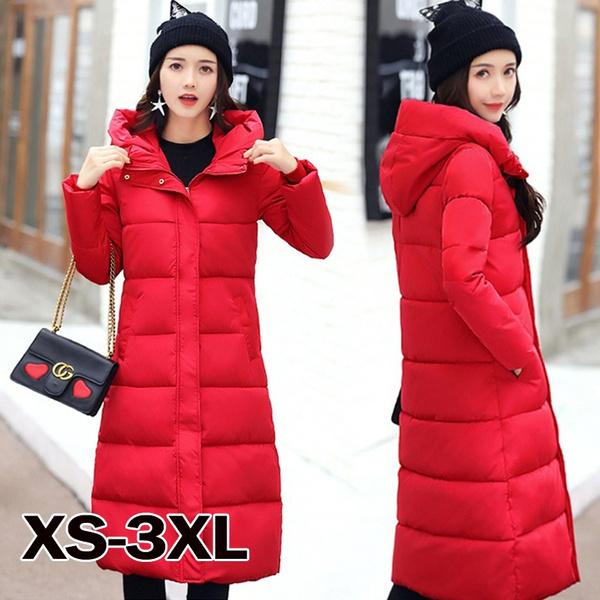 padded, hooded, Winter, Long Coat