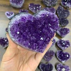 Heart, amethystheart, quartz, Love