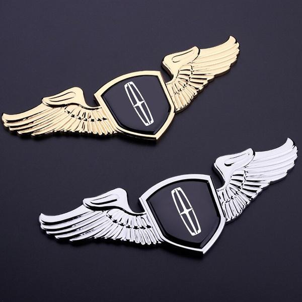 Car Sticker, lincoln, Emblem, chrome