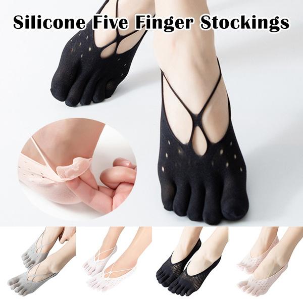 non-slip, Flip Flops, velvet, womenfivefingersock
