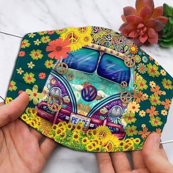 Flowers, hippie, Sunflowers, Cars