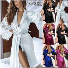 night dress, Fashion, Lace, Bathrobe