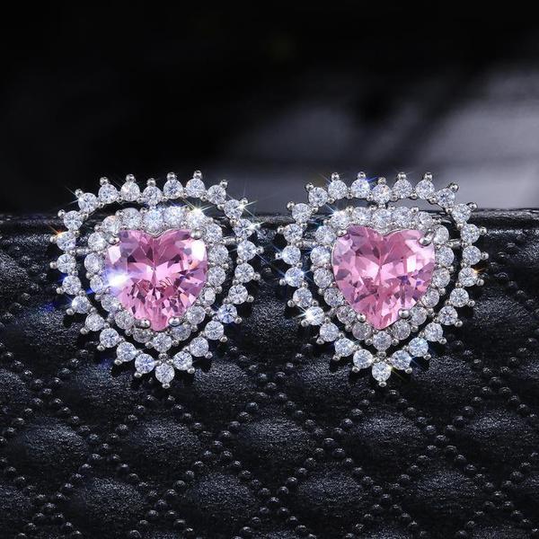 pink, Sterling, DIAMOND, 925 sterling silver