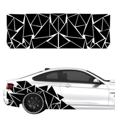 Car Sticker, geometricpatternsdecalsticker, geometricpatternssticker, Cars
