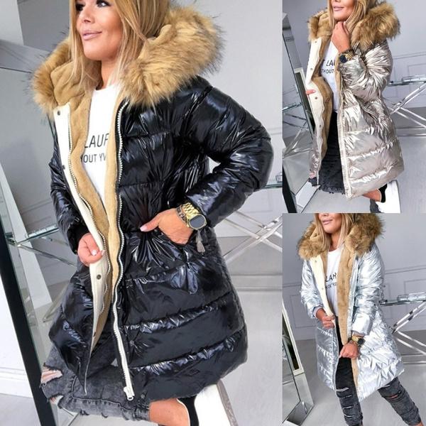 hooded, fur, Winter, Long Coat