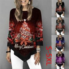 women pullover, Plus Size, christmasblouse, chiffon
