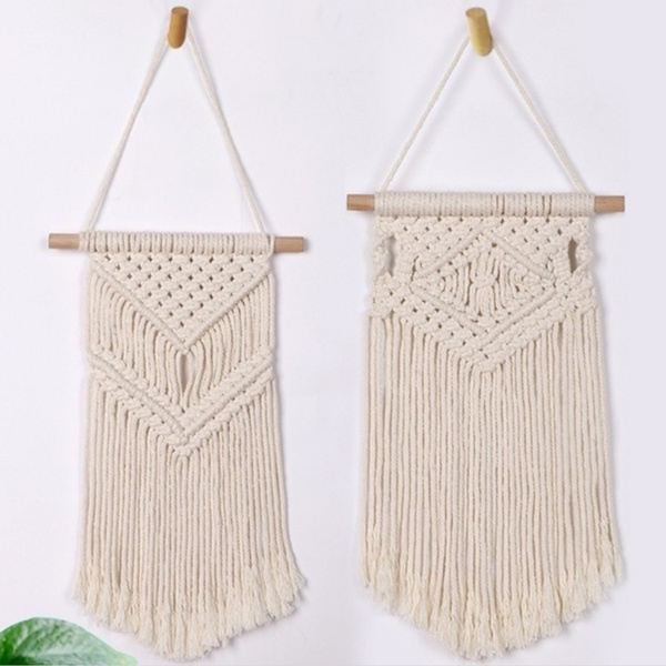 knitted, Decor, Dreamcatcher, weaveneedle