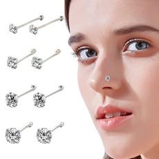 DIAMOND, Jewelry, Stud Earring, Stainless Steel