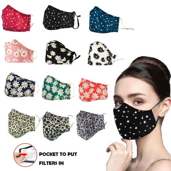 starmask, Fashion, leopardprintmask, daisymask