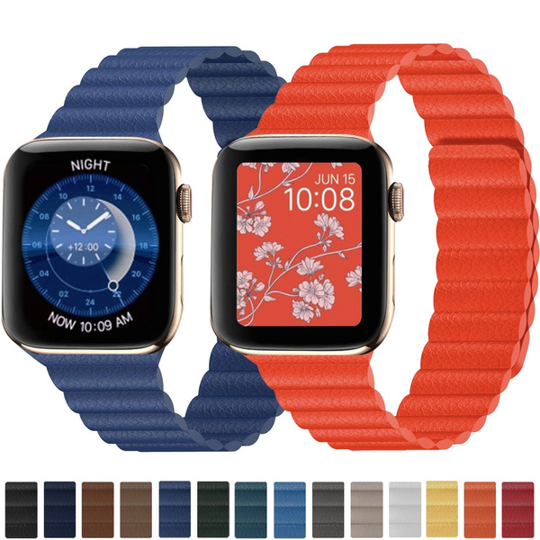 Apple, leather strap, leather, Watch