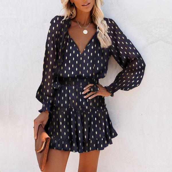 fall clothes women, Club Dress, Fashion, lanternsleeve