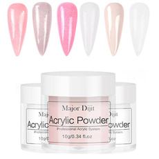 pink, polymer, art, dippingnailpowder