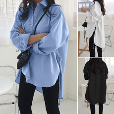 blouse, sleeve v-neck, drawstringblouse, shirtforwomen