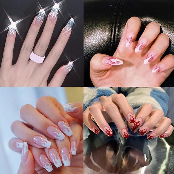 nail decoration, nail tips, Beauty, frenchnail