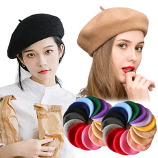 autumnwinter, Womens Accessories, beretsfemale, plaincap