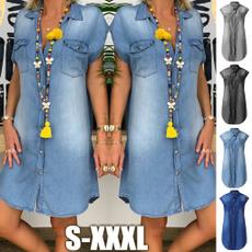 Mini, Blues, Fashion, sundress