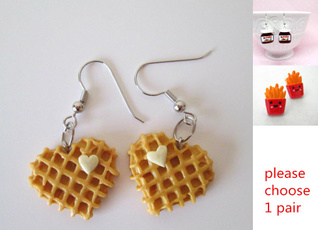 monogram, Kawaii, Girlfriend Gift, Dangle Earring