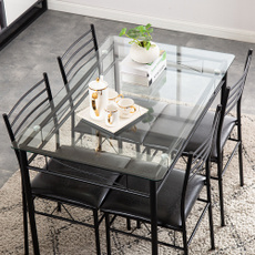 Kitchen & Dining, highbackchair, Home & Living, glasstable