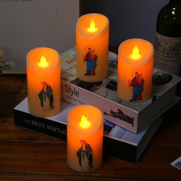 catholic, Decor, led, candlelight