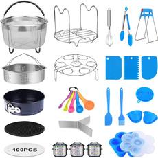 measuringspoon, steamerbasketdivider, pressurecookeraccessorie, magneticcheatsheetforpressurecooker
