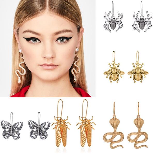 beetleearring, butterfly, Dangle Earring, Jewelry