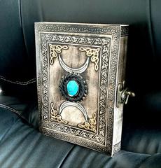 Turquoise, Medium, leather, travelbook