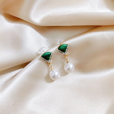 Jewelry, silverneedle, pearls, Elegant