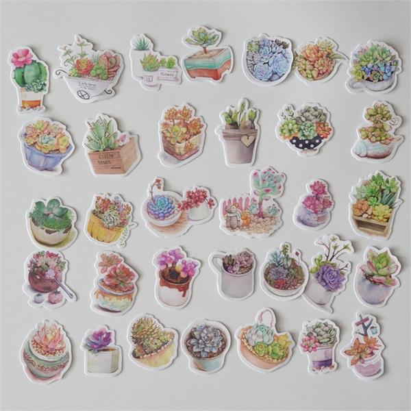 Kawaii, succulent, Fashion, stickerssucculent