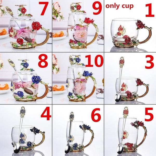 golden, Coffee, Flowers, bluerosecup