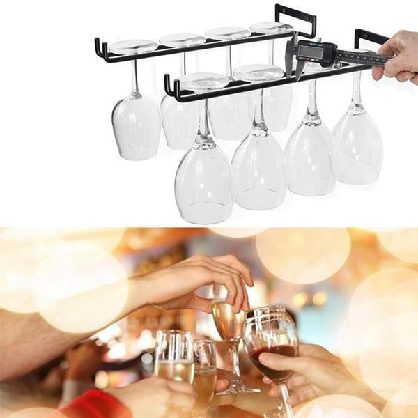 blackwineglassholder, wallmountedwinerack, Kitchen & Dining, Goblets