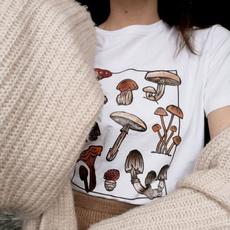 short sleeves, Fashion, Mushroom, Shirt