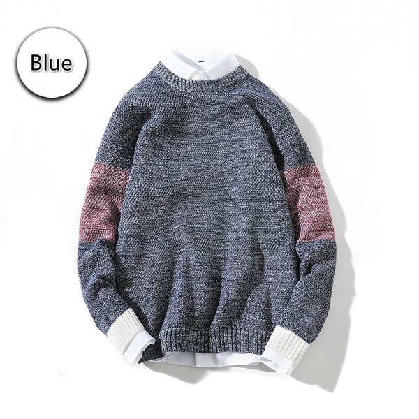 New Crew Clothing Mens Colour Block Crew Neck Jumper in Size L