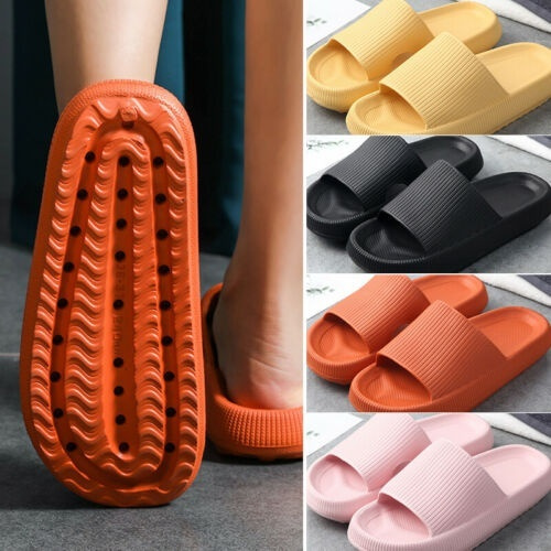RANSHUO Super Soft Home Slippers Anti-Slip Thick Sole for Bathroom Shower Women Men,Thick Foams Soles