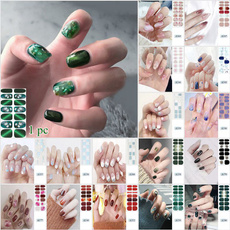 Nails, nail stickers, Glitter, art