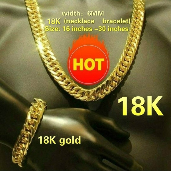 mens necklaces, mensluxurynecklacebraceletset, gold, gold jewelry