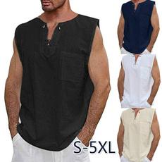 Summer, sleeveless, Plus Size, Shirt