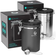 Steel, Storage & Organization, Coffee, co2releasevalveandmeasuringscoop