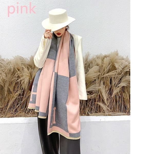 pink, Scarves, Women's Fashion & Accessories, Winter