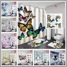 butterfly, doormat, Bathroom, Door