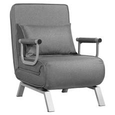 Gray, loungechair, sleeperchair, Home & Living