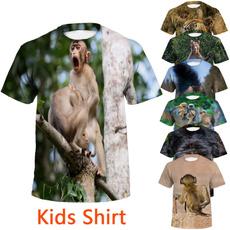 Boy, Shorts, Shirt, animal print