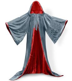hooded, velvet, Medieval, renaissance