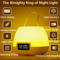 bedsidelamp, Table Lamps, Night Light, Clock