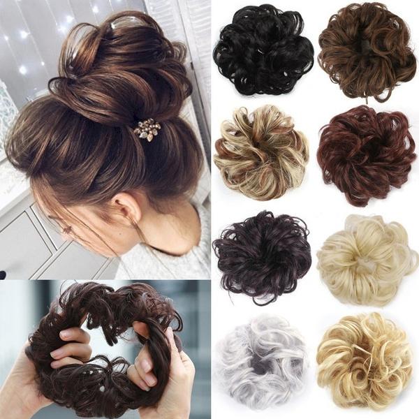 Hairpieces, hairbun, Elastic, blackhairpiece