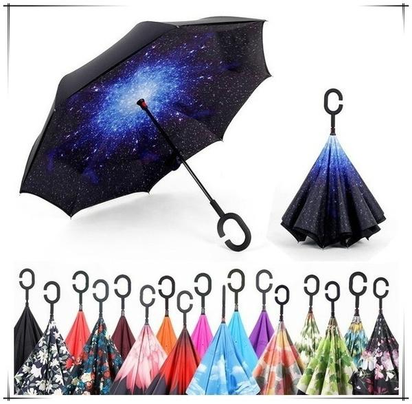 rainumbrella, flowerumbrella, Umbrella, reverse
