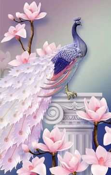 landscapepuzzle, pink, Toy, peacock