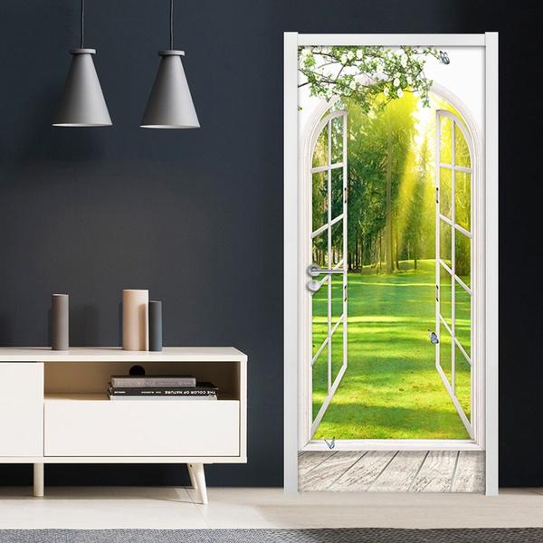 removablewaterproofdoordecal, dormitorydecoration, selfadhesivepvc, pvcwaterproof