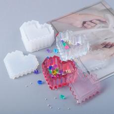 Box, Heart, Love, Silicone