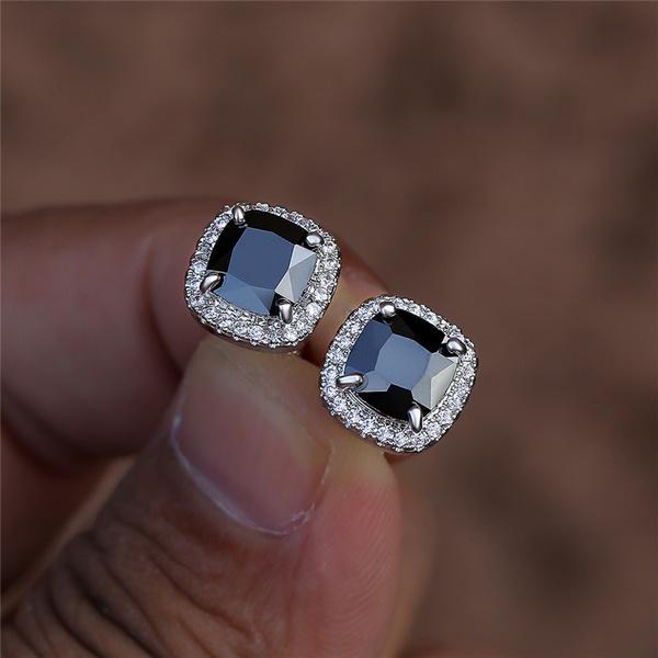 Sterling, DIAMOND, Stud, Stud Earring